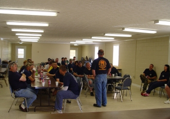 Extrication class meeting at community center